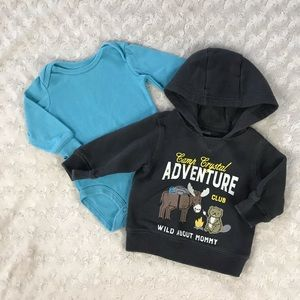 Carter's Baby Boy Bundle 3 Month Hooded Sweatshirt
